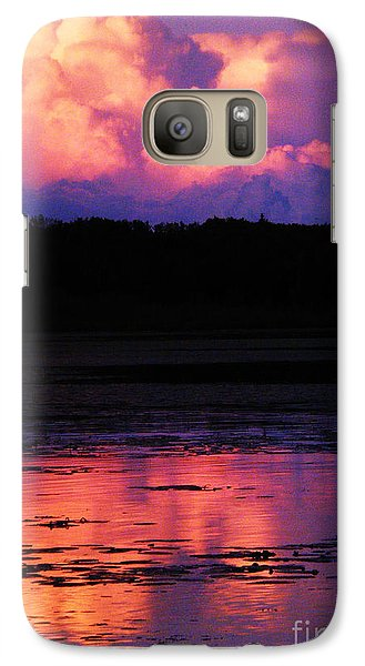 Galaxy Case featuring the photograph Cumulous Squared by Marianne NANA Betts