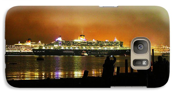 Galaxy Case featuring the photograph Cunard's 3 Queens by Terri Waters