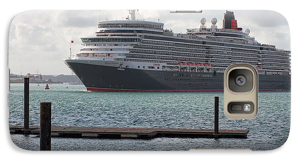 Galaxy Case featuring the photograph Cunards Queen Elizabeth by Shirley Mitchell