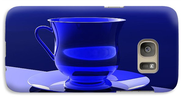 Galaxy Case featuring the digital art Cup And Saucer by John Pangia