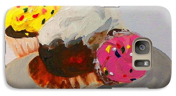 Galaxy Case featuring the painting Cupcakes by Marisela Mungia
