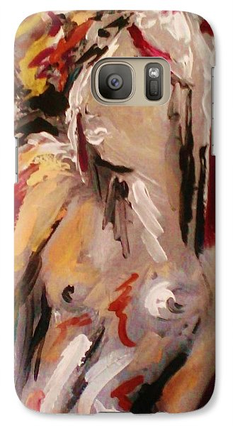 Galaxy Case featuring the painting Cupid by Dawn Fisher
