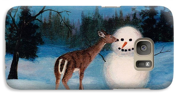 Galaxy Case featuring the painting Curiosity by Brenda Thour