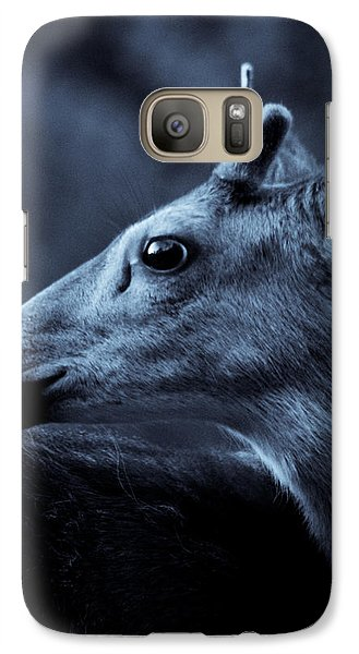 Galaxy Case featuring the photograph Curious  by Adria Trail