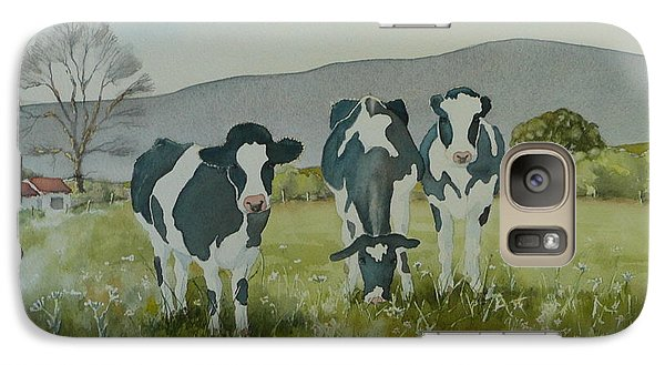 Galaxy Case featuring the painting Curious Cows by Jo Appleby