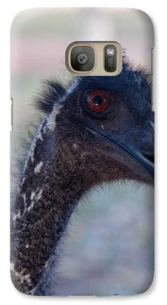 Galaxy Case featuring the photograph Curious Emu by Carole Hinding