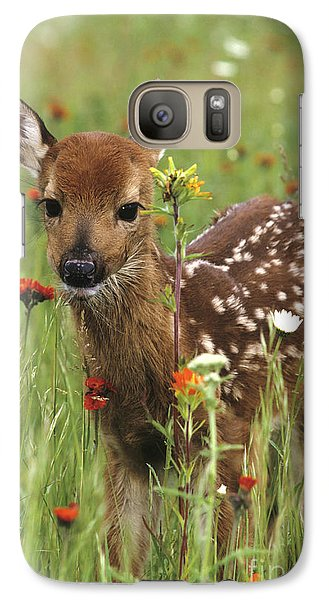 Galaxy Case featuring the photograph Curious Fawn by Chris Scroggins