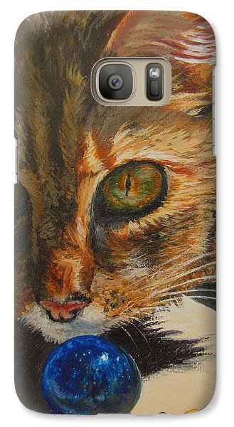 Galaxy Case featuring the painting Curious by Karen Ilari