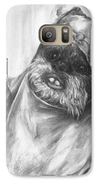 Galaxy Case featuring the drawing Curious Wicket by Meagan  Visser