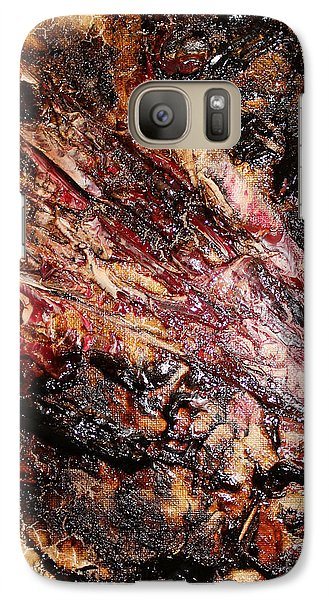 Galaxy Case featuring the painting Curl Up And Dye by Lucy Matta