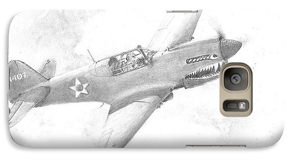 Galaxy Case featuring the drawing Curtiss P-40 Warhawk by Jim Hubbard