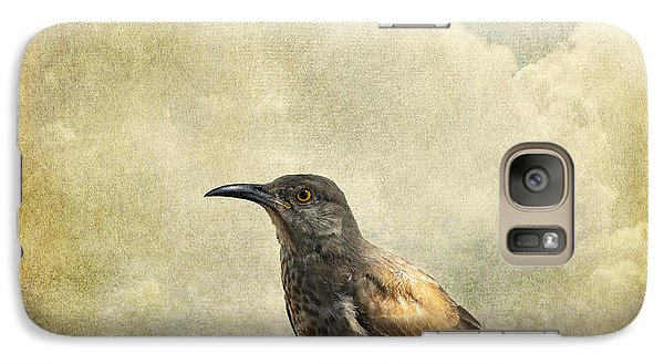 Galaxy Case featuring the photograph Curved Bill Thrasher by Karen Slagle