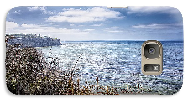 Galaxy Case featuring the photograph Curved Shoreline by Joseph Hollingsworth