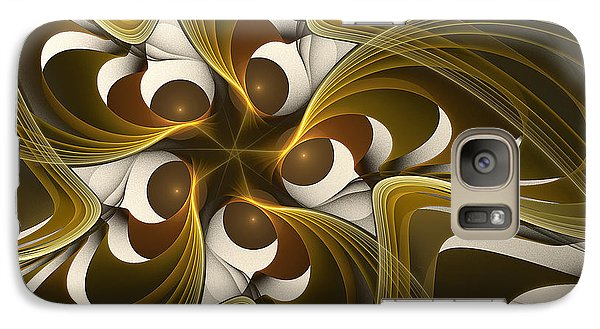 Galaxy Case featuring the digital art Curves by Linda Whiteside