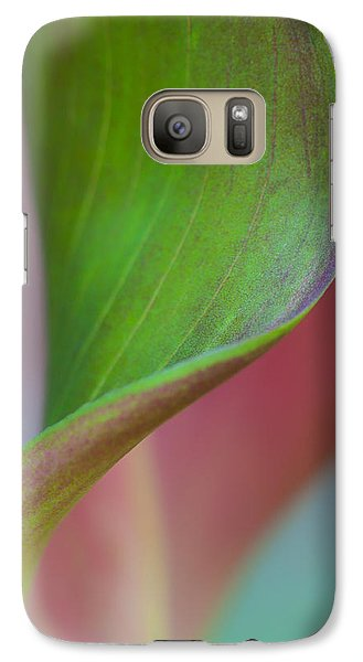 Galaxy Case featuring the photograph Curves Of A Calla Lily by Zoe Ferrie