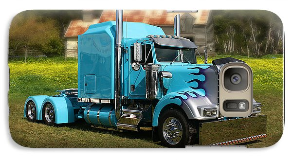 Galaxy Case featuring the photograph Custom Kenworth by Keith Hawley