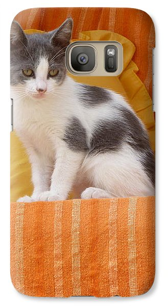 Galaxy Case featuring the photograph Cute Kitty by Vicki Spindler