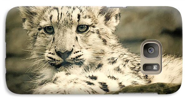 Galaxy Case featuring the photograph Cute Snow Cub by Chris Boulton