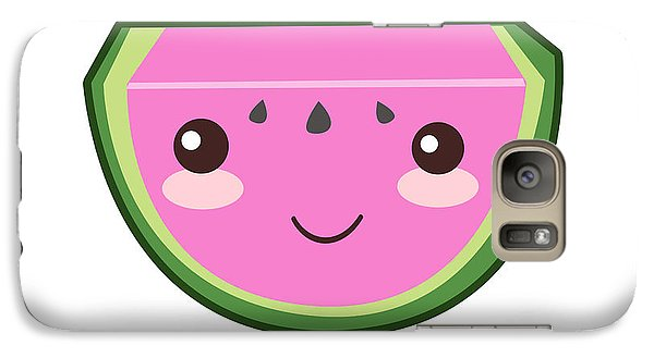 Cute Watermelon Illustration Galaxy S7 Case by Pati Photography