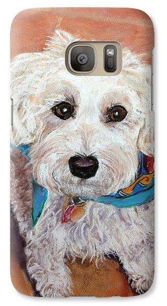 Galaxy Case featuring the pastel Cutie With Bandana by Julie Maas