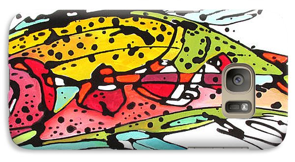 Galaxy Case featuring the painting Cutthroat Trout by Nicole Gaitan