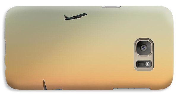 Galaxy Case featuring the photograph Cutting It Close  by Puzzles Shum