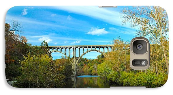 Galaxy Case featuring the photograph Cuyahoga Valley Scenic Railroad - Brecksville Station by Dennis Lundell
