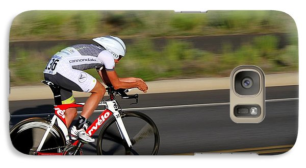 Galaxy Case featuring the photograph Cycling Time Trial by Kevin Desrosiers