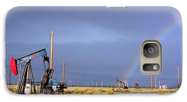 Galaxy Case featuring the photograph Cymric Field Rainbow by Lanita Williams