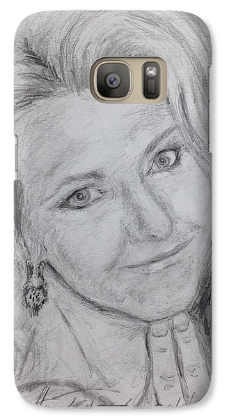 Galaxy Case featuring the painting Cyndi  by Stan Tenney