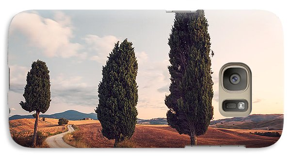 Cypress Lined Road In Tuscany Galaxy S7 Case by Matteo Colombo
