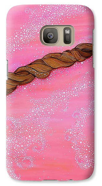 Galaxy Case featuring the painting Cypress Wand by Deborha Kerr