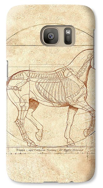 Horse Galaxy S7 Case - da Vinci Horse in Piaffe by Catherine Twomey