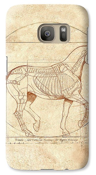 da Vinci Horse in Piaffe Galaxy S7 Case