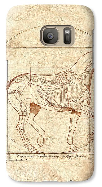 Animals Galaxy S7 Case - da Vinci Horse in Piaffe by Catherine Twomey