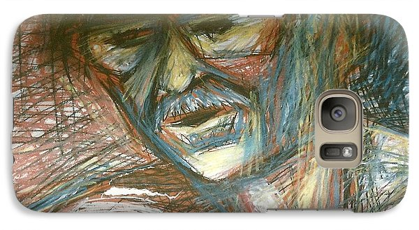 Galaxy Case featuring the drawing Dad by Carrie Maurer