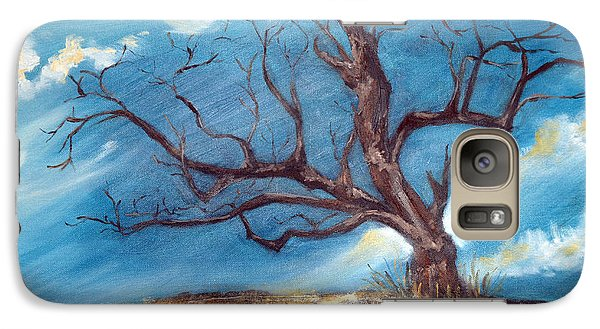 Galaxy Case featuring the painting Daddy's Tree by Meaghan Troup