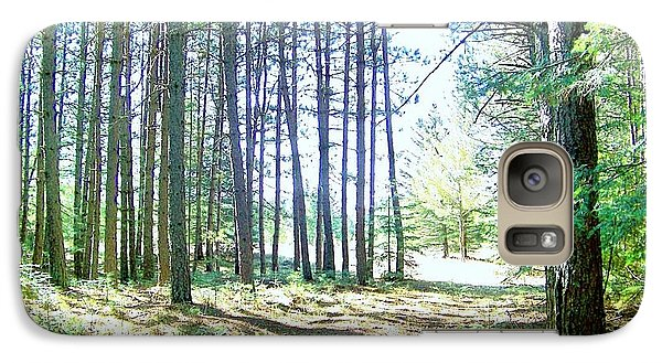 Galaxy Case featuring the photograph Dad's Woods I by Shirley Moravec