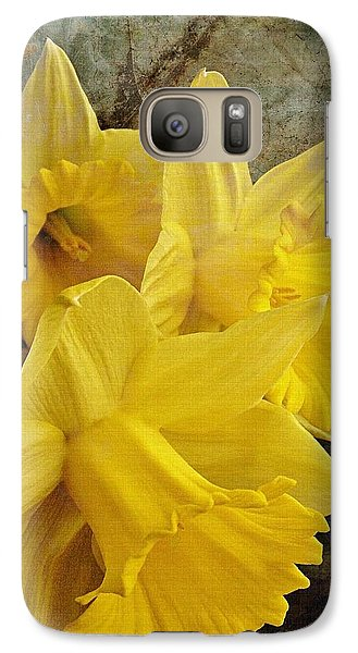 Galaxy Case featuring the photograph Daffodil Burst by Diane Alexander