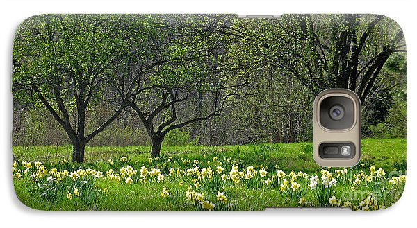 Galaxy Case featuring the photograph Daffodil Meadow by Ann Horn
