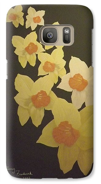 Galaxy Case featuring the digital art Daffodils by Terry Frederick