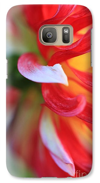 Galaxy Case featuring the painting Dahlia Edges by Jeanette French