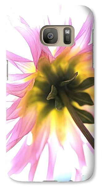 Galaxy Case featuring the photograph Dahlia Flower by Joy Watson