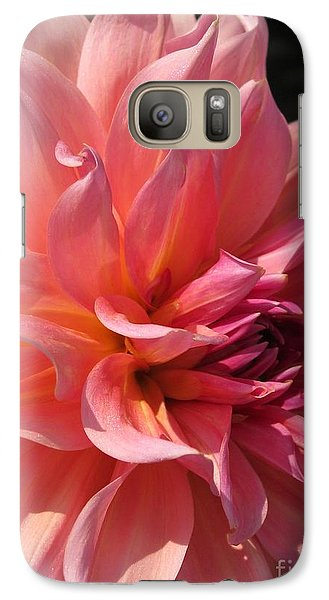 Galaxy Case featuring the photograph Dahlia Named Fire Magic by J McCombie