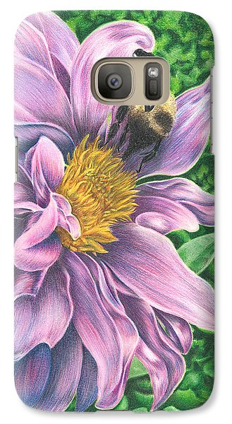 Galaxy Case featuring the drawing Dahlia by Troy Levesque