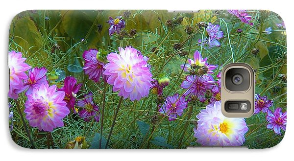 Galaxy Case featuring the photograph Dahlias And Cosmos  by Judy Via-Wolff