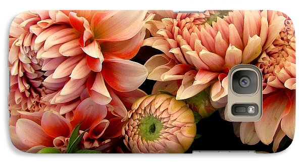 Galaxy Case featuring the photograph Dahlias Opening by Brenda Pressnall