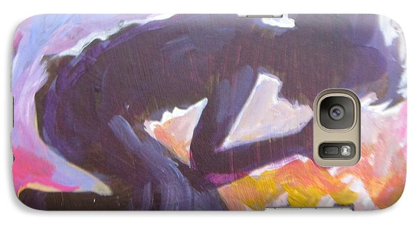 Galaxy Case featuring the painting Daily Prayer by Tilly Strauss