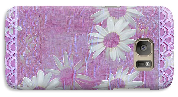 Galaxy Case featuring the photograph Daisies And Paper Lace by Sandra Foster