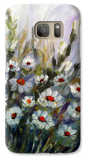 Galaxy Case featuring the painting Daisies by Dorothy Maier